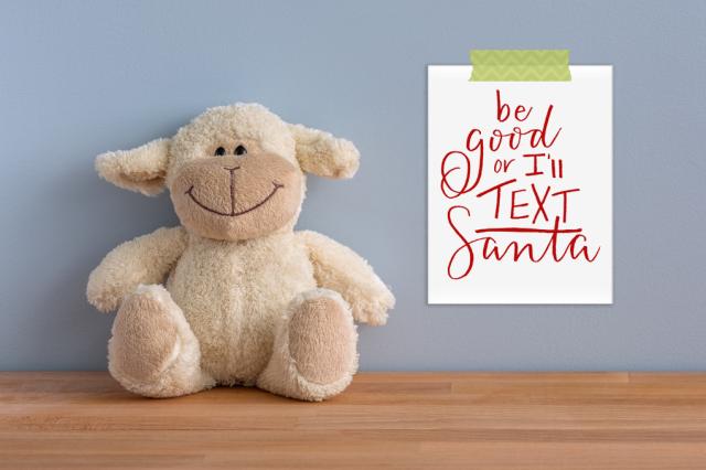 christmas quotes toys santa be good or i'll text santa