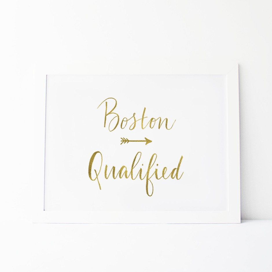 Boston Qualified Digital Download wall art printable marathons